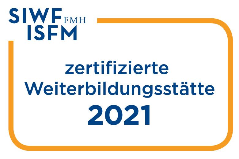 Logos_SIWF-Zertifiziert-Weiterbildungsstaette_D-F-I-E_2021
